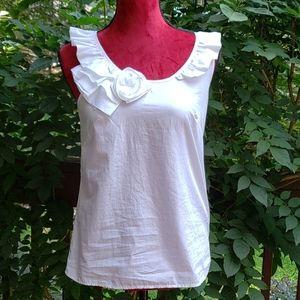 J. Crew White Cotton Top Size 0